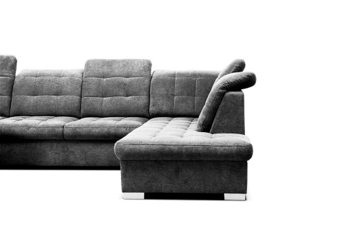 Chrome Legs. U-shaped Sofa with Pull-out Bed - Toronto