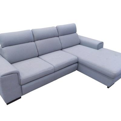 """Угловой диван-кровать с регулируемыми подголовниками - Niagara. Серая ткань """"рогожка"""", правый угол"""