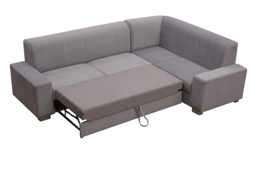 Pull-out Bed. Corner Sofa Bed (4 Seater) with Pouffe - Sardinia