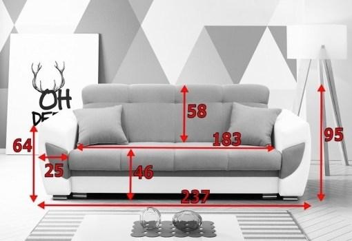 Medidas de sofá cama modelo Tarancón