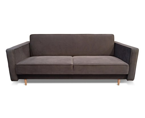 Vista frontal. Sofá cama nórdico 3 plazas - Uppsala
