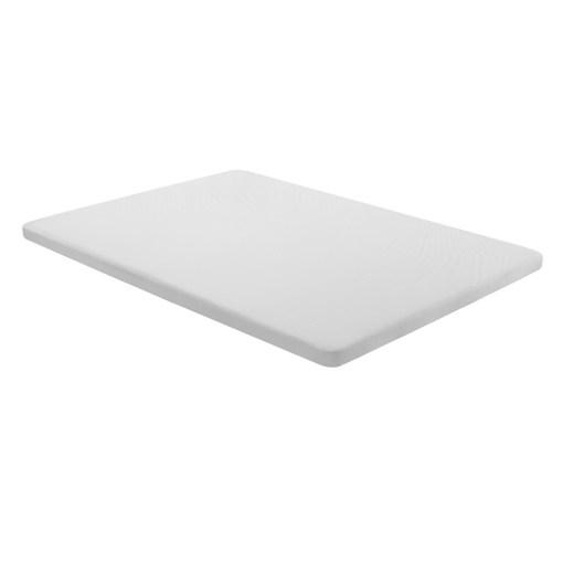 Base tapizada 135 x 190 cm, color blanco, sin patas - Bazio