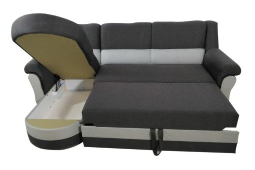 Pull-out Bed and Storage. Chaise Longue Sofa Bed with High Backrest - Parma