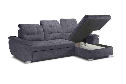 Storage Under the Chaise. Sofa with High Backrest, Reclining Headrests, Bed and Storage - Windzor