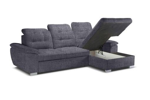 Отделение для хранения белья. Угловой диван с кроватью и регулируемыми подголовниками - Windzor