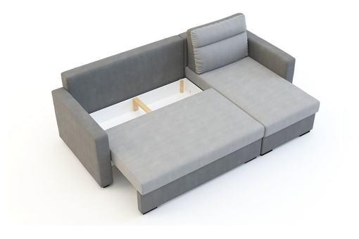 Storage of the Chaise Longue Sofa Bed - Edmonton.