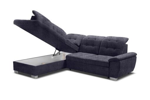 Бельевой ящик. Угловой диван-кровать с высокими спинками - Hamilton