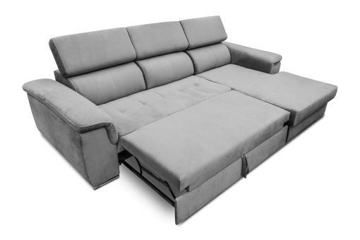 Cama extraíble. Sofá chaise longue cama, máximo confort - Hamburg