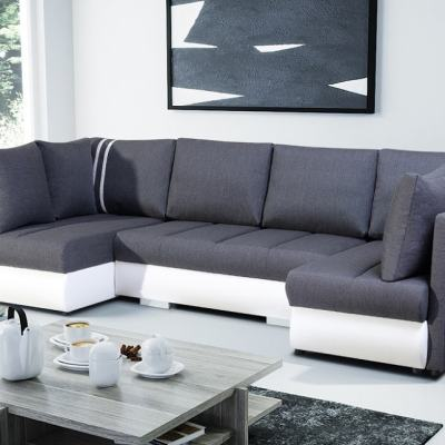 Small U-shaped Sofa with Bed, 2 Chaise Longues, 3 Storages - Bora