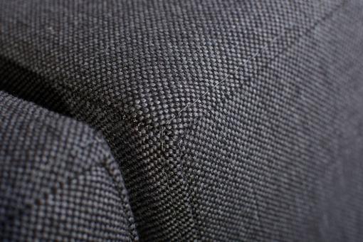 Tela sintética resistente del sofá pequeño en forma de U modelo Bora