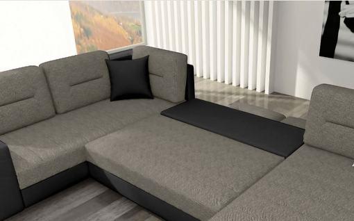 Cama del sofá en U económico - Bristol