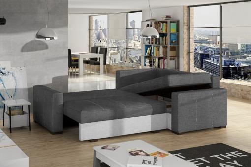 Cama y arcón abiertos de sofá esquinero pequeño modelo Brighton