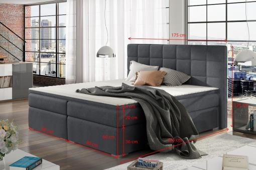 Medidas de cama doble 160 x 200 cm modelo Isabella