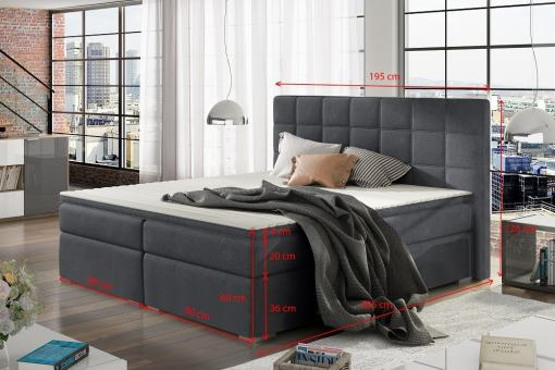 Dimensions of the Super King Size Storage Bed - Isabella