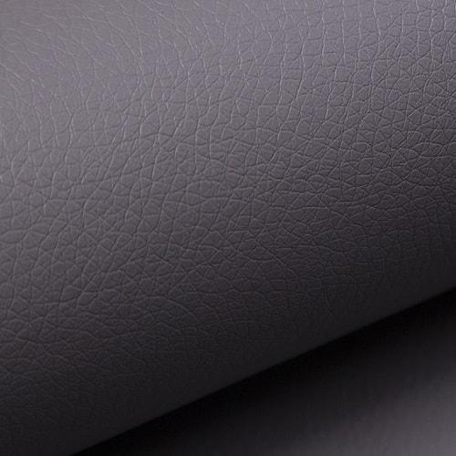 Piel sintética de color gris (soft 29) de Sofá chaise longue cama con reposabrazos de madera - Leeds