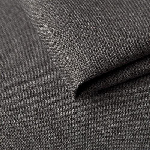 Tela gris (sawana 21) de sofá chaise longue cama con reposabrazos de madera - Leeds