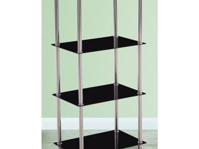 4 Tier Shelf (Toughened Glass and Stainless Steel) - Tamara