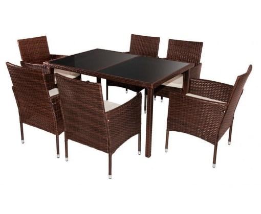 Juego de 6 sillas y una mesa de jardín - Agosto