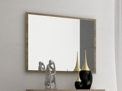 Wall Mirror with Brown Frame 90 x 75 cm - Cremona
