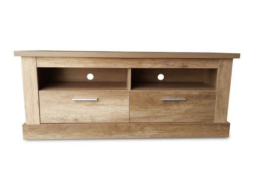 TV Stand for 32″, 40″, 43″, 50″, 55″, 60″ TV Sets, with 2 Drawers & 2 Shelves, Imitation Wood Finish - Alabama