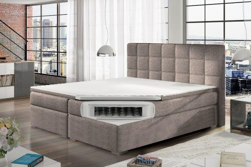 Colchón con muelles tipo bonell de cama doble boxspring 140 x 200 cm modelo Isabella