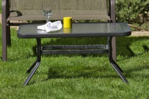 """Журнальный столик для сада 90 x 55 см, сталь цвета """"бронза"""" - Caribe"""