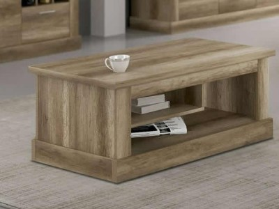 Coffee Table with Magazine Rack in Imitation Wood Finish - Alabama