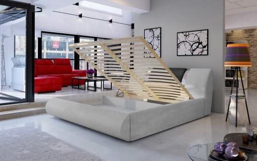 Somier y de laminas y arcón. Canapé abatible moderno 160 x 200 cm - Charlotte