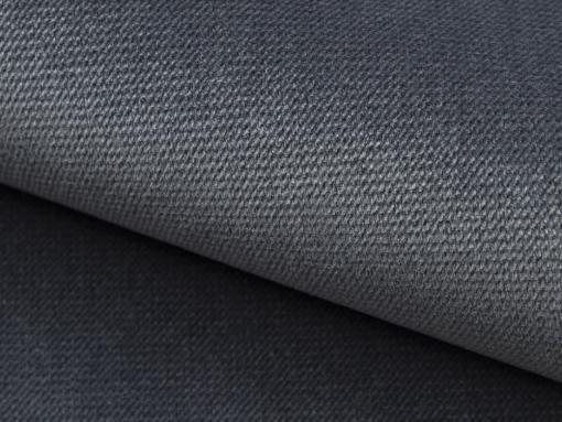 Tela sintética poliéster color gris oscuro (Paros 6) del canapé Charlotte