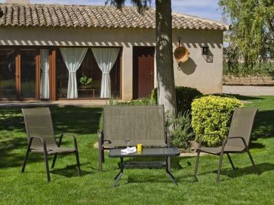 Conjunto para jardín - sofa 2 plazas, 2 sillones, mesa de centro - Caribe