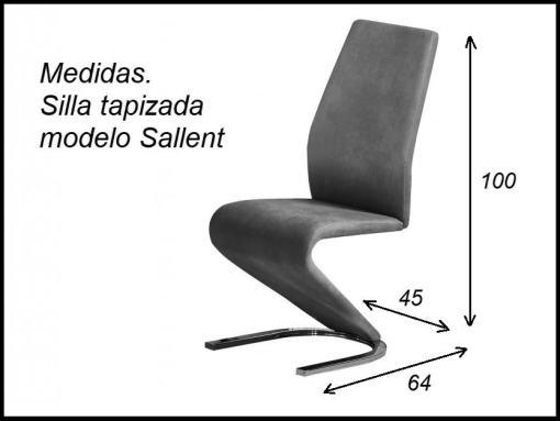 Medidas. Silla de diseño modelo Sallent