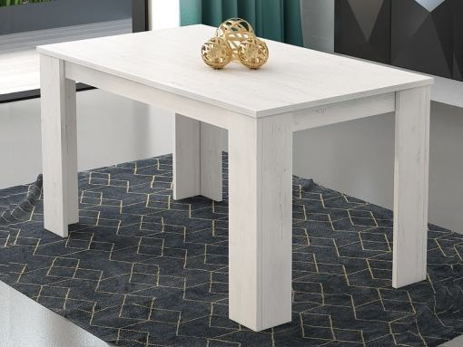 Light Grey Rectangular Fixed Dining Table 140 x 80 cm - Manresa