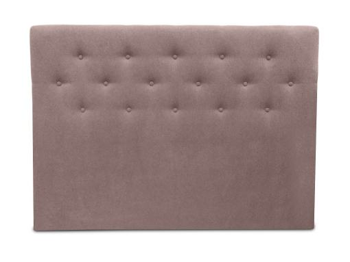 Double Bed Headboard, 160 x 120, Upholstered in Fabric with Buttons - Dream. Brown Colour