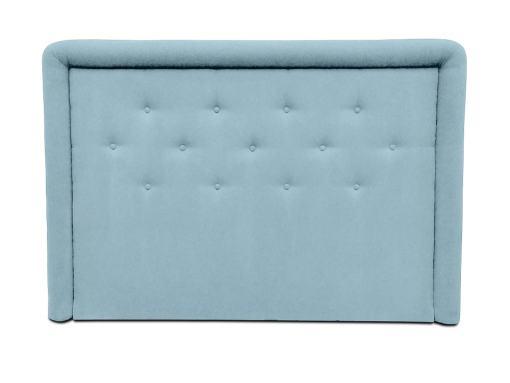 Изголовье кровати с мягкой обивкой и пуговицами, 170 x 120 см - Good Night. Голубая ткань