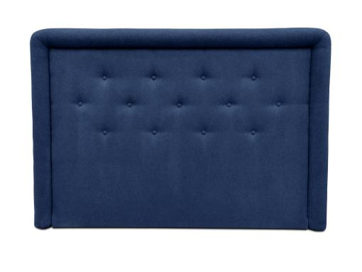 Изголовье кровати с мягкой обивкой и пуговицами, 170 x 120 см - Good Night. Тёмно-синяя ткань