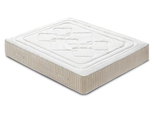 Wide Double Memory Foam Mattress with High Resiliency Foam Core, 150 x 190 cm - Viscoalto