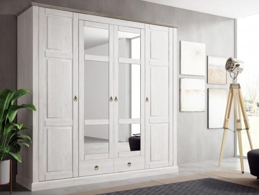 """Четырёхдверный платяной шкаф с зеркалами в стиле """"прованс"""" - Provence"""