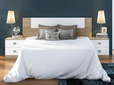 Inexpensive Bedroom Set - Double Headboard and 2 Bedside Tables - Rimini