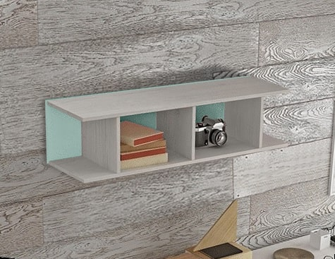 Blue Sectional Wall Shelf for Kids Rooms (Vertical or Horizontal Hanging) - Luddo