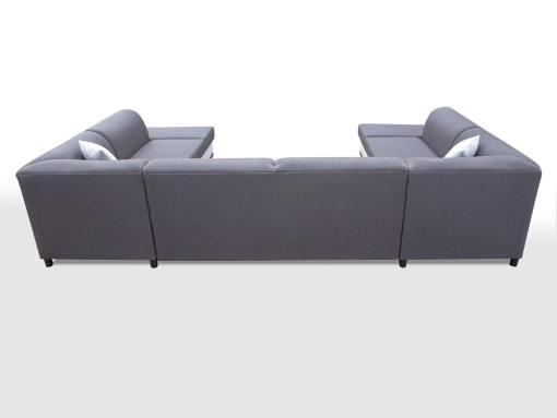 Tapizado detras. Sofa esquinero en forma de U con cama y 2 arcones - Azores