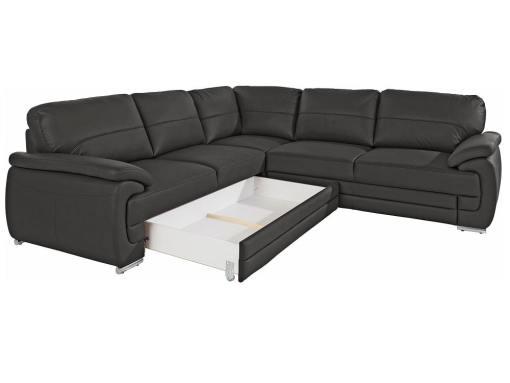 Arcón extraíble del sofá rinconera de piel auténtica modelo Dallas