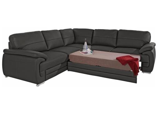 Cama extraíble del sofá rinconera de piel auténtica modelo Dallas