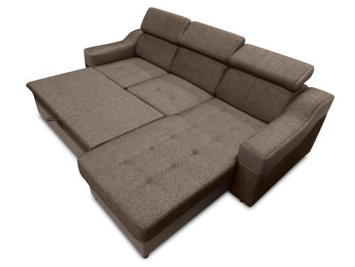 Cama extraíble del sofá chaise longue con altos reposacabezas modelo Albi