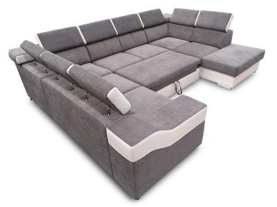 Pull-out Bed in Extended Position of the 7 Seater Corner Sofa Cannes