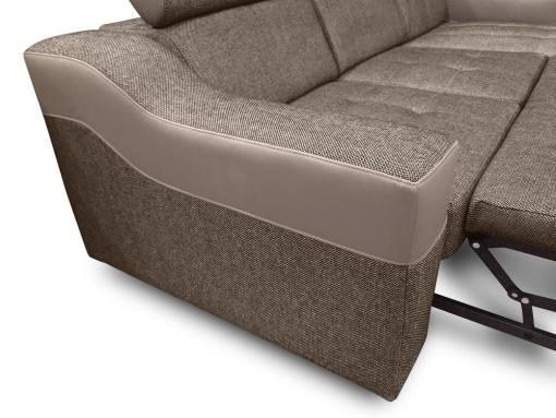 Reposabrazo del sofá chaise longue con altos reposacabezas modelo Albi