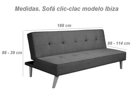 Medidas. Sofá cama clic clac económico - Ibiza