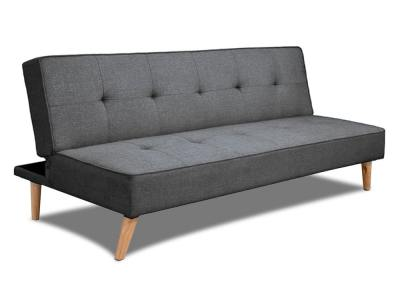 Inexpensive clic-clac sofa bed - Ibiza. Grey fabric