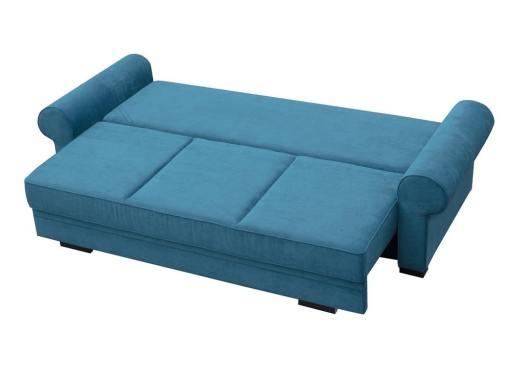 Modo cama. Sofá cama grande estilo clásico con arcón modelo Lancaster