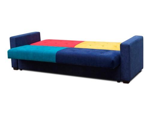 Modo cama. Sofá cama tapizado en tela de 4 colores - Art
