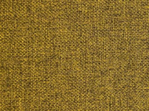 Tela color 'oro'. Conjunto de 2 sillones y un sofá cama con patas de madera y arcón - Monaco
